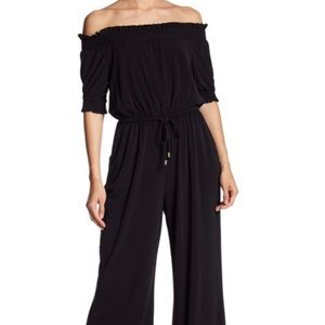 Vince Camuto Black Off Shoulder Jumpsuit pants